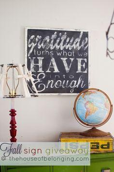 Gratitude: House of Belonging