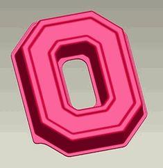 The Ohio State Buckeyes Block O Logo Cake Pan & Dessert Mold