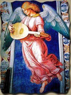 Luca Signorelli (1441-1523) Angel Musician, Orvieto, Duomo, Cappella di San Brizio.