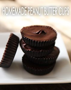 2-Ingredient Homemade Peanut Butter Cups--Absolutely brilliant! Plus, there's a nut-free option.
