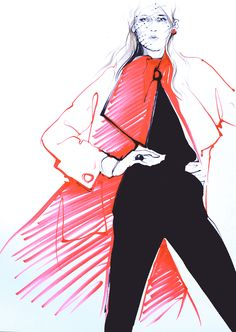 Fashion Drawing Alena Lavdovskaya - Illustrations for Dior. Illustration Mode, Fashion Illustration Sketches, Fashion Sketchbook, Fashion Design Sketches, Cristian Dior, Cool Sketches, Fashion Art, Dior Fashion, Paper Fashion