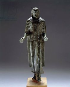 Etruscan bronze statue of a vestal virgin C.350BC. Bologna