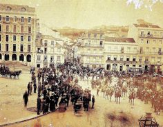 Av. da Liberdade, esquina com a Rua das Pretas - c.1900