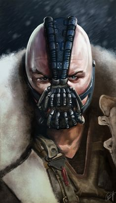 Tom Hardy as Bane, in The Dark Knight Rises. Illustration by Leonardo Paciarotti.