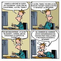 Problemas de identidad en la era moderna, jejejjeje. #humor #caricatura #tecnologia