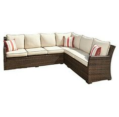 "ONE IN STOCK Sahlidda Patio Sectional: 80.5"" W x 104"" D x 35.5"" H: Rent: $149; Buy: $989"