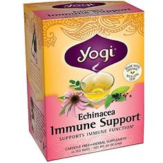 Yogi Tea Herbal Teas Echinacea Immune Support 16 tea bags...