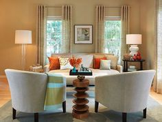 How To Mix Patterns Appropriately Transitional Living RoomsModern RoomsLiving Room IdeasOrange