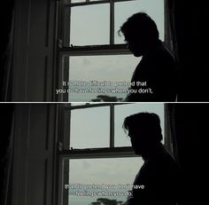 ― The Lobster (2015) David: It is more difficult to pretend that you do have feelings when you don't, than to pretend you don't have feelings when you do.