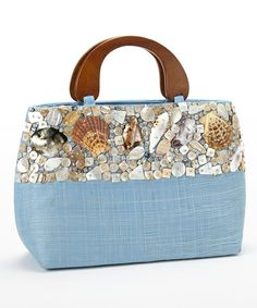 Take a look at this Blue Seashell Studded Bag by Dennis East International on #zulily today!