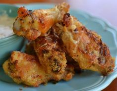 Parmesan & Garlic Chicken Wings