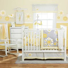 Yellow+and+Grey+Crib+Bedding | We are using sweet sunshine by migi for dds room