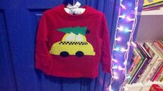 Henry's 2011 Christmas shirt...made taxi and tree using felt and Heat N Bond Ultra Hold.