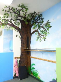 I made painted this tree and then changed the foliage through the seasons in my classroom.