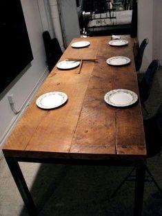 古材テーブル