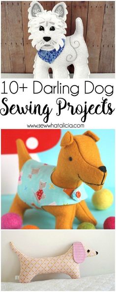10+ Darling Dog Projects to Sew : If you love to sew and you love dogs check out these adorable dog sewing projects. #sewing #sewingfordogs #dogprojects