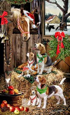 """New for 2013! Beagle Christmas Holiday Cards are 8 1/2"""" x 5 1/2"""" and come in packages of 12 cards. One design per package. All designs include envelopes, your personal message, and choice of greeting.Select the inside greeting of your choice from the menu below.Add your custom personal message to the Comments box during checkout."""