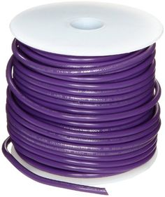 VIOLET AUTOMOTIVE  WIRE 16 GAUGE HIGH TEMP GXL  25 FEET STRIPED AVAILABLE
