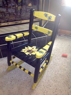Hand painted Bumble Bee rocker
