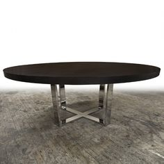 Hudson Furniture, Dining-Tables, X-Metal Base