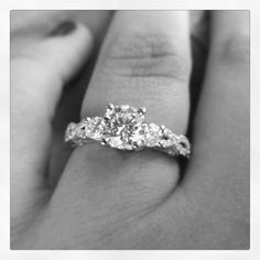This is my infinity engagement ring. We got engaged July 24, 2012 on Virginia Beach