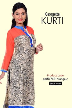 Orange N Beige #PrintedRayonKurti  Embrace the beauty of this amazing Orange and Beige rayon #kurti with georgette full sleeve featuring floral prints and look utmost stunning #womanwear #casualkurti #printedkurti #kurticollection #designerkurti #shopping #casualoutfit #dailywear #onlineshopping #style #indianwear #ethnicwear #trending