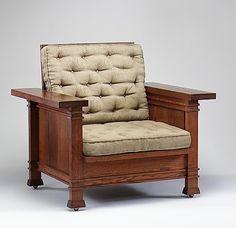 Armchair designed by Frank Lloyd Wright, c.1902-1903.