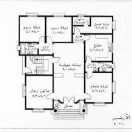 خرائط بيوت 150 متر طابق واحد from i.pinimg.com