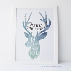 Merry Christmas Ya Filthy Animal U2022 Home Alone Movie Quote Poster U2022 Funny  Kevin McAllister Typographic Christmas Print, Holiday Wall Art | Merry  Christmas Ya ...