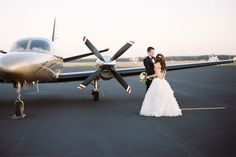 airplane hangar wedding reception