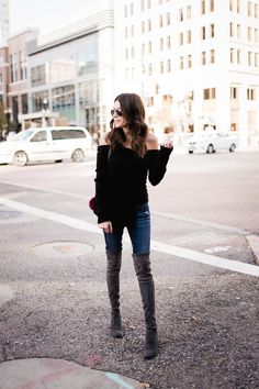 3 Ways to Style Your Off-the-Shoulder Sweater | Hello Fashion | Bloglovin'