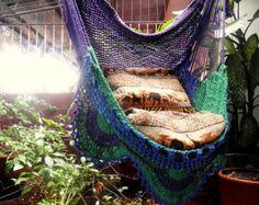Tricolor assis hamac, pendaison Chaire coton naturel et bois plus Simple Fringe