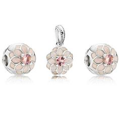07ed2bbbe Blooming Dahlia Floral Charm Set Pandora Beads, Pandora Charms 2017, Pandora  Jewelry, Pandora