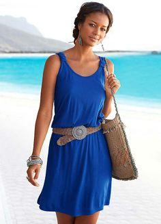Beachtime Royal Blue Racer Back Dress