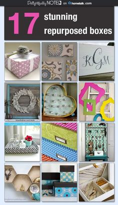 Organize and decorate with repurposed boxes. Upcycled Crafts, Dyi Crafts, Paper Crafts, Repurposed Items, Cardboard Organizer, Cardboard Box Crafts, Cardboard Furniture, Cardboard Storage, Cardboard Castle