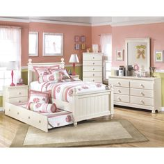 Signature Design by Ashley Cottage Retreat Cream Day Bed with Trundle - Overstock™ Shopping - Great Deals on Signature Design by Ashley Beds