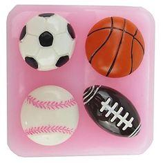 basketbal voetbal nfl vormige fondant cake chocolade siliconen mal, cupcake decoratie gereedschappen, l6cm * w6.1cm * h1.8cm – EUR € 3.99