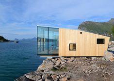 Arctic exploration cabins cantilever over the Norwegian shoreline #architecture #bwfurniture