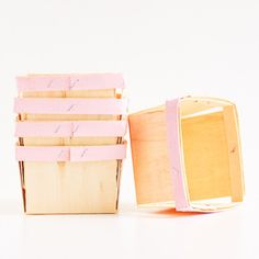 Wooden Berry Baskets: Bubblegum Pink – Shop Sweet Lulu