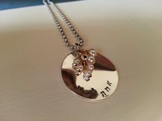 """This necklace is close to my heart. I desire to make things that bring meaning into anothers life. Atah Yafeh means """"You are beautiful."""" This Hebrew hand stamped necklace is an excellent gift for the lovely lady in your life."""