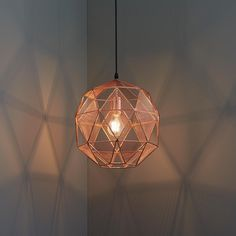 copper wire cage pendant light home pinterest copper wire rh pinterest com