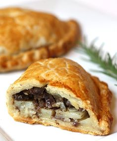Jim's Cornish Pasties | filling topped with a dusting of flour and butter to make gravy.