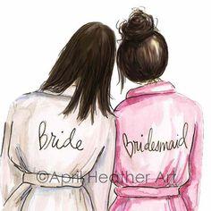 Bridesmaid PDF Download Brunette printable cards