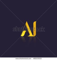 Letter AI that can be used as initial logo