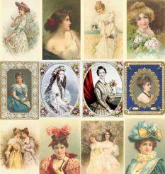 São 100 desenhos, postais e ilustrações vintage de DAMAS ANTIGAS utilizadas principalmente em livros e cartões postais da época vitoriana. Ideais para quem gosta do tema e/ou trabalha com vários tipos de arte e artesanato.  RESOLUçãO DAS IMAGENS: 150 DPI'S FORMATO DOS ARQUIVOS: JPEG OS TAMANHOS DAS IMAGENS SãO BEM VARIADOS ATENDENDO MELHOR QUEM NãO TEM NECESSIDADE DE GRANDES FORMATOS COMO POSTERS E BANNERS. Important...