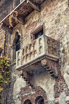 The famous balcony of Romeo and Juliet in Verona, Italy. Seriously, I mean, every girl should see this before they die.