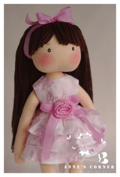 Elegant Susan for special occassion rag doll by AnneCorner