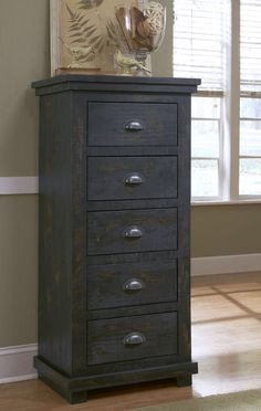 Progressive Furniture Willow Distressed Black Lingerie Chest of Drawers - The Home Depot Wood Bedroom Furniture, Space Furniture, Home Furniture, Kitchen Furniture, Luxury Furniture, Pine Chests, Dresser Drawers, Dressers, Bed Styling