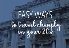 Your twenties are the best time to travel! You usually have fewer responsibilities, you aren't quite settled down, and you're...