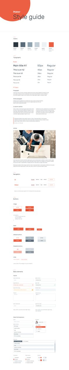 Styleguidesmaker Web Style Guide, Brand Style Guide, Style Guides, Website Design Inspiration, Ui Inspiration, Ui Color, Brand Presentation, Web Design, Website Features